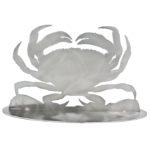 Metal Displays & Stand-ups :Stainless Dungeness Crab Stand-Up