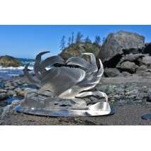 Metal Displays :Stainless Dungeness Crab Stand-Up
