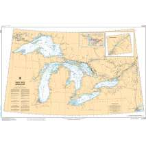 Central and Arctic Region Charts :CHS Chart 2400: Great Lakes/Grands Lacs