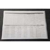 Professional Mariners :Engineers Log Book - 62 day (11x17 spiral-bound)