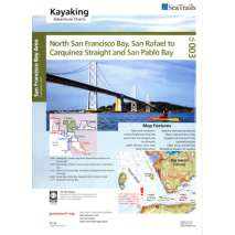 Sea Trail Maps, Sea Trails Map:  North San Francisco Bay, San Rafael to Carquinez Strait
