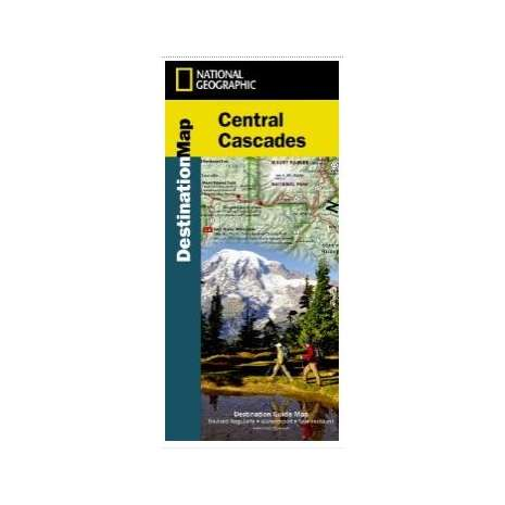Washington Travel & Recreation Guides :Central Cascades (National Geographic Map)