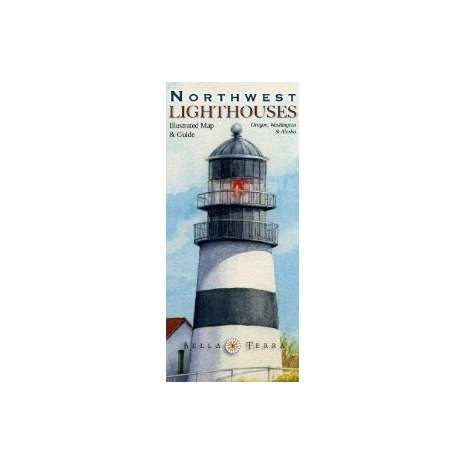 Pacific Northwest :Northwest Lighthouses: Illustrated Map and Guide