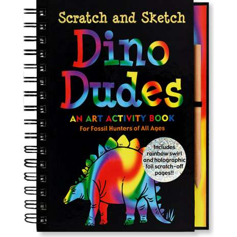 Dinosaurs & Reptiles :Scratch and Sketch: Dino Dudes