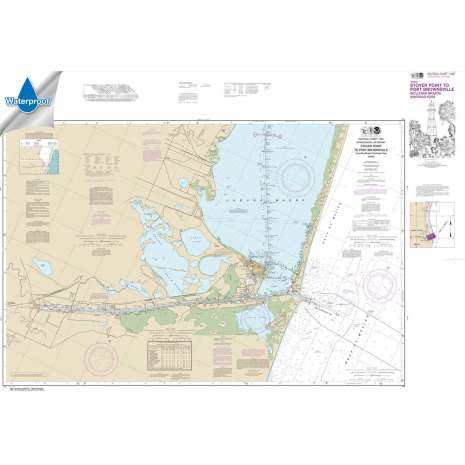 Waterproof NOAA Charts :Waterproof NOAA Chart 11302: Intracoastal Waterway Stover Point to Port Brownsville: including Brazos Santiago Pass