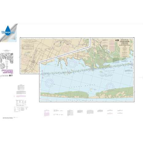 Waterproof NOAA Charts :Waterproof NOAA Chart 11303: Intracoastal Waterway Laguna Madre - Chubby Island to Stover Point: including The Arroyo Colorado
