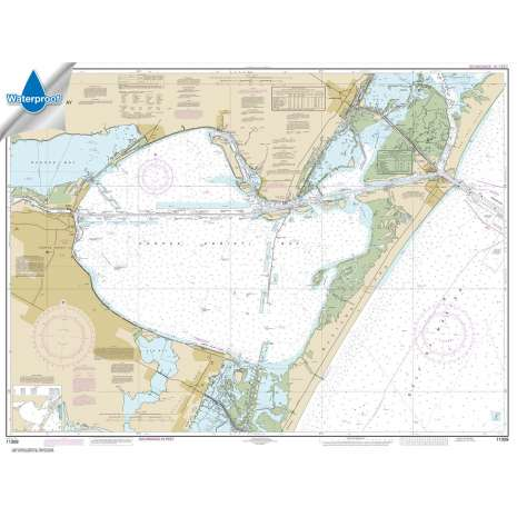 Waterproof NOAA Charts :Waterproof NOAA Chart 11309: Corpus Christi Bay