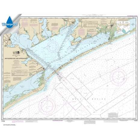 Waterproof NOAA Charts :Waterproof NOAA Chart 11316: Matagorda Bay and approaches