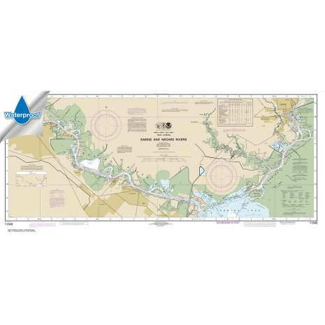 Waterproof NOAA Charts :Waterproof NOAA Chart 11343: Sabine and Neches Rivers