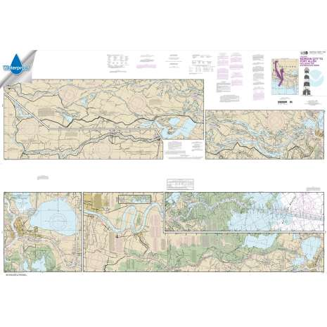 Waterproof NOAA Charts :Waterproof NOAA Chart 11354: Intracoastal Waterway Morgan City to Port Allen: including the Atchafalaya River
