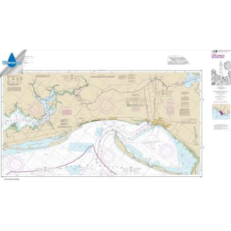 Waterproof NOAA Charts :Waterproof NOAA Chart 11393: Intracoastal Waterway Lake Wimico to East Bay