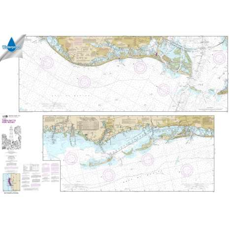 Waterproof NOAA Charts :Waterproof NOAA Chart 11411: Intracoastal Waterway Tampa Bay to Port Richey