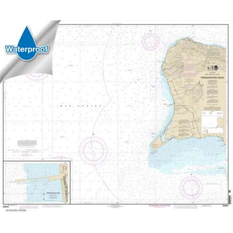 Gulf Coast Charts :Waterproof NOAA Chart 25644: Frederiksted Road;Frederiksted Pier
