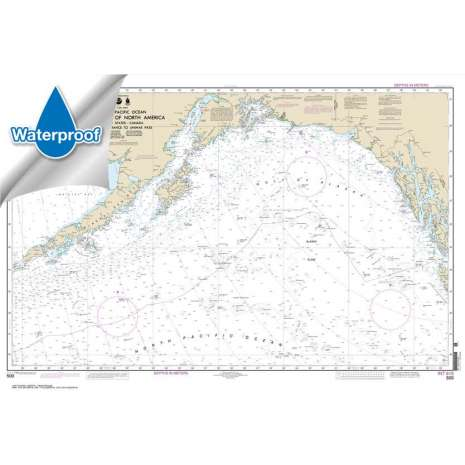 Pacific Coast Charts :Waterproof NOAA Chart 500: West Coast Of North America Dixon Ent To Unimak Pass