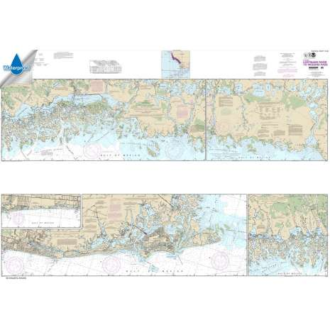 Waterproof NOAA Charts :Waterproof NOAA Chart 11430: Lostmans River to Wiggins Pass