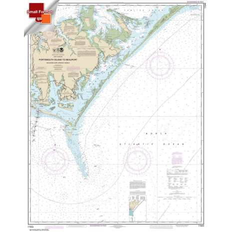 Atlantic Coast Charts :Small Format NOAA Chart 11544: Portsmouth Island to Beaufort: Including Cape Lookout Shoals