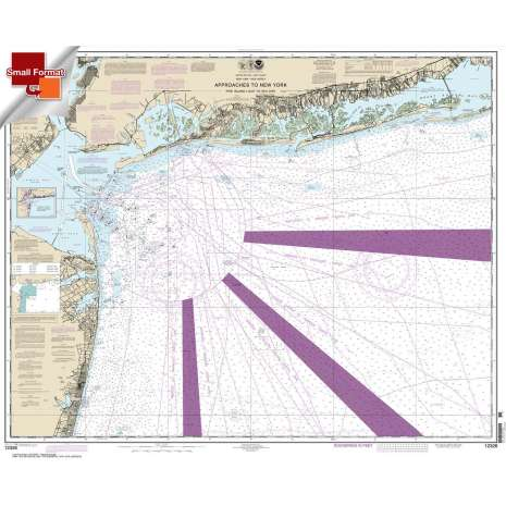 Atlantic Coast Charts :Small Format NOAA Chart 12326: Approaches to New York Fire lsland Light to Sea Girt