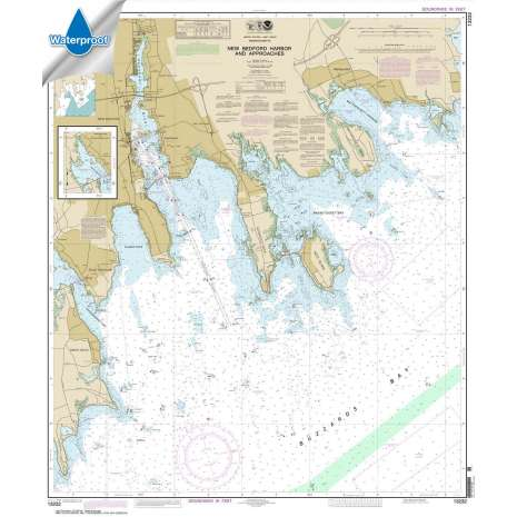 Atlantic Coast Charts :Waterproof NOAA Chart 13232: New Bedford Harbor and Approaches