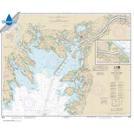 Atlantic Coast Charts :Waterproof NOAA Chart 13236: Cape Cod Canal and Approaches