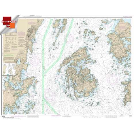 Atlantic Coast Charts :Small Format NOAA Chart 13305: Penobscot Bay;Carvers Harbor and Approaches
