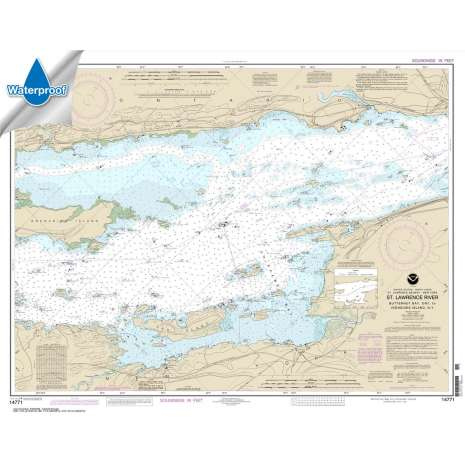 Waterproof NOAA Charts :Waterproof NOAA Chart 14771: Butternut Bay: Ont.: to Ironsides l.: N.Y.