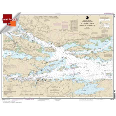 Great Lakes Charts :Small Format NOAA Chart 14772: Ironsides l.: N.Y.: to Bingham l.: Ont.