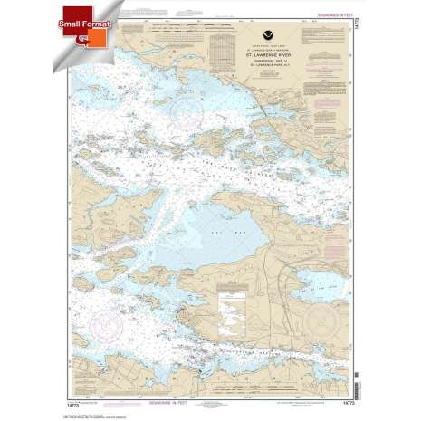 Great Lakes Charts :Small Format NOAA Chart 14773: Gananoque: Ont.: to St. Lawrence Park. N.Y.