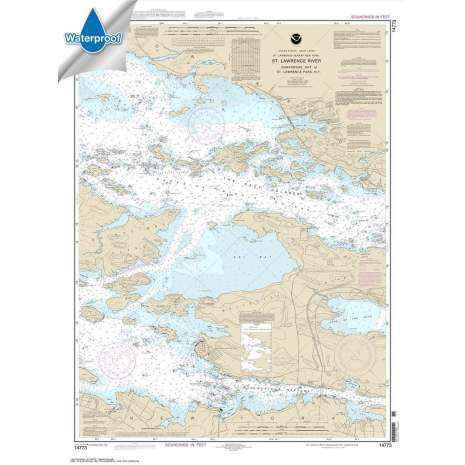 Waterproof NOAA Charts :Waterproof NOAA Chart 14773: Gananoque: Ont.: to St. Lawrence Park. N.Y.