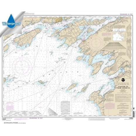 Waterproof NOAA Charts :Waterproof NOAA Chart 14802: Clayton to False Ducks ls.