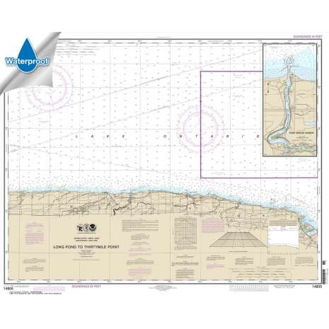 Waterproof NOAA Charts :Waterproof NOAA Chart 14805: Long Pond to Thirtymile Point;Point Breeze Harbor