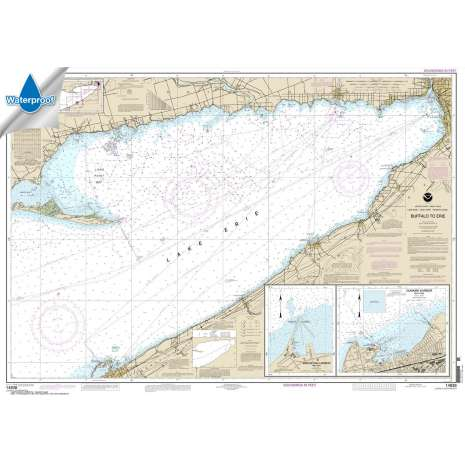Waterproof NOAA Charts :Waterproof NOAA Chart 14838: Buffalo to Erie;Dunkirk;Barcelone Harbor