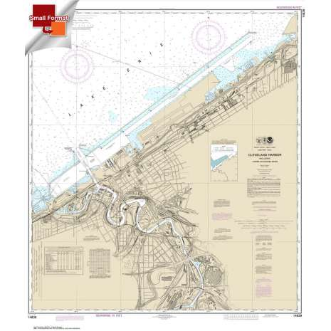 Great Lakes Charts :Small Format NOAA Chart 14839: Cleveland Harbor: including lower Cuyahoga River