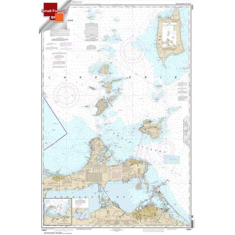 Great Lakes Charts :Small Format NOAA Chart 14844: Islands in Lake Erie;Put-In-Bay