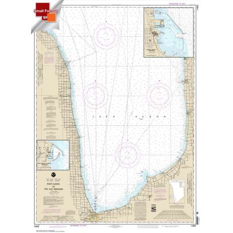 Great Lakes Charts :Small Format NOAA Chart 14862: Port Huron to Pte aux Barques;Port Sanilac;Harbor Beach