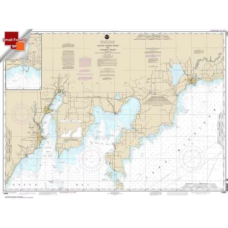 Great Lakes Charts :Small Format NOAA Chart 14908: Dutch Johns Point to Fishery Point: including Big Bay de Noc and Little Bay de Noc;Manistique