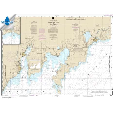 Waterproof NOAA Charts :Waterproof NOAA Chart 14908: Dutch Johns Point to Fishery Point: including Big Bay de Noc and Little Bay de Noc;Manistique