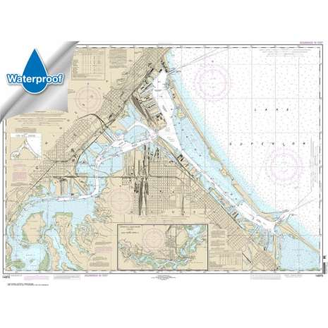 Waterproof NOAA Charts :Waterproof NOAA Chart 14975: Duluth-Superior Harbor;Upper St. Louis River