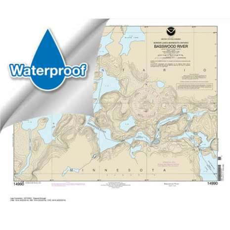 Waterproof NOAA Charts :Waterproof NOAA Chart 14990: Basswood River