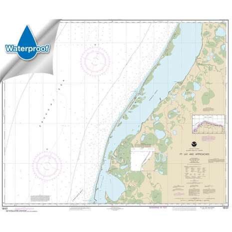 Waterproof NOAA Charts :Waterproof NOAA Chart 16101: Pt. Lay and approaches