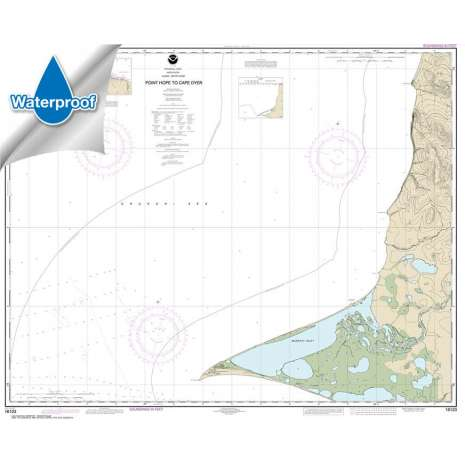 Waterproof NOAA Charts :Waterproof NOAA Chart 16123: Point Hope to Cape Dyer