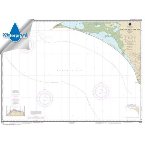 Waterproof NOAA Charts :Waterproof NOAA Chart 16124: Cape Thompson to Point Hope