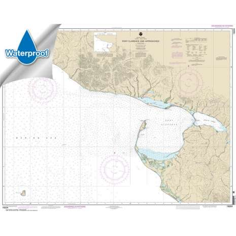 Waterproof NOAA Charts :Waterproof NOAA Chart 16204: Port Clarence and approaches
