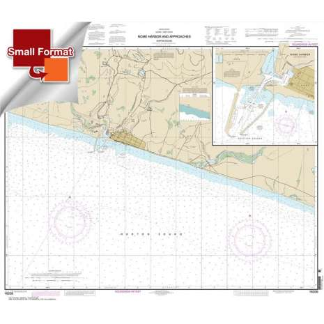 Alaska Charts :Small Format NOAA Chart 16206: Nome Hbr. and approaches: Norton Sound;Nome Harbor