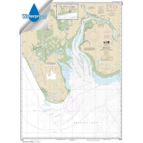 Waterproof NOAA Charts :Waterproof NOAA Chart 16322: Bristol Bay-Nushagak B and approaches