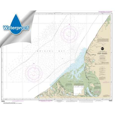 Waterproof NOAA Charts :Waterproof NOAA Chart 16343: Port Heiden