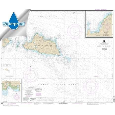Waterproof NOAA Charts :Waterproof NOAA Chart 16436: Shemya Island;Alcan Harbor;Skoot Cove