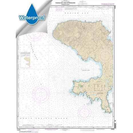 Waterproof NOAA Charts :Waterproof NOAA Chart 16462: Andrenof. Islands Tanga Bay and approaches