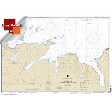 Alaska Charts :Small Format NOAA Chart 16476: Sweeper Cove: Finger and Scabbard Bays