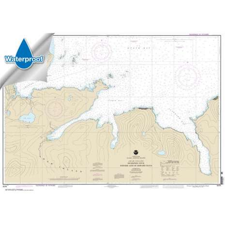 Waterproof NOAA Charts :Waterproof NOAA Chart 16476: Sweeper Cove: Finger and Scabbard Bays