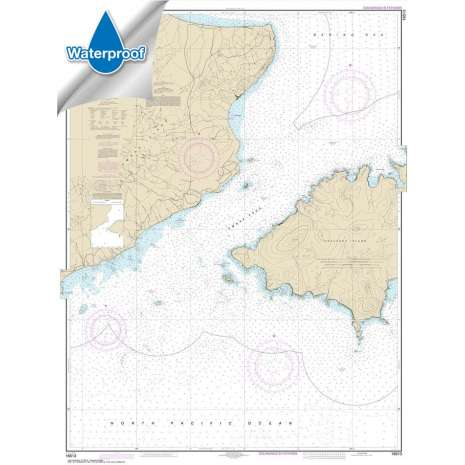 Waterproof NOAA Charts :Waterproof NOAA Chart 16513: Unalaska Island Umnak Pass and approaches